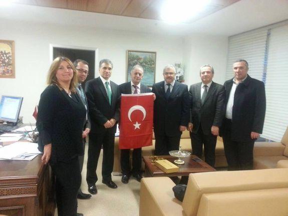 Türk Sağlık Sen İstanbul 4 nolu Şube olarak faaliyet alanımızda bulunan G.O.P. Taksim E.A. Hastanesine yeni atanan hastane yöneticisini ziyaret ettik