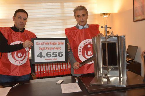 Türk Sağlık Sen Kocaeli Şube Başkanı Ömer Çeker sağlık çalışanlarının Ek ödemelerinin zamanında ödenmesine sert tepki gösterdi.