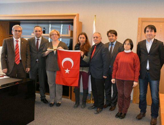 İstanbul Halk Sağlığı Müdürü Prof. Dr. Nuran İnce hanımı makamında ziyaret ettik.