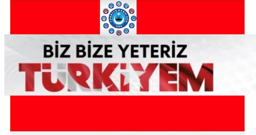 Biz Bize Yeteriz Türkiyem Kampanyasına Konfederasyonumuzdan Tam Destek