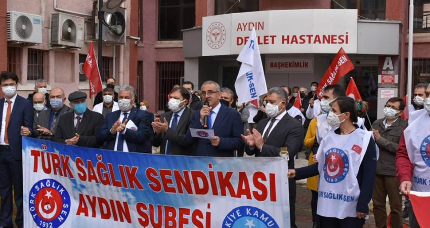 Aydın'da Sağlık Çalışanlarının Taleplerini Dile Getirdik