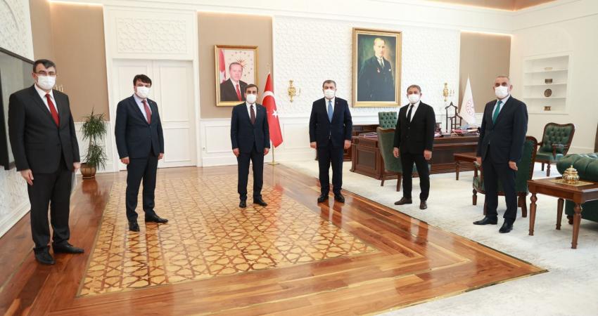 Sağlık Bakanı Sayın Dr. Fahrettin Koca ile Sağlık Çalışanlarının Sorunlarını Görüştük