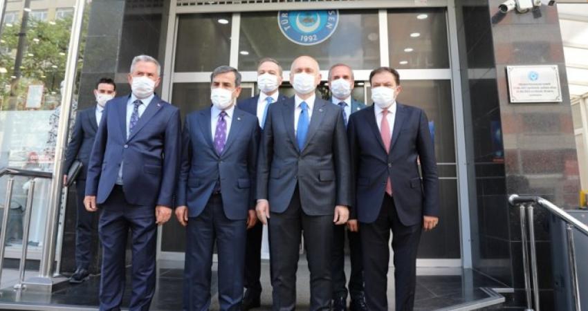 Ulaştırma ve Altyapı Bakanı Adil Karaismailoğlu Konfederasyonumuzu Ziyaret Etti