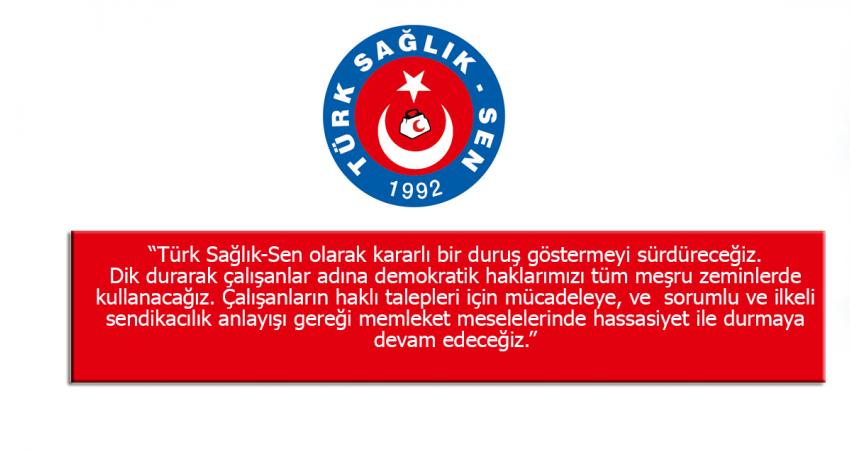 Türk Sağlık-Sen Başkanlar Kurulu Sonuç Bildirgesi