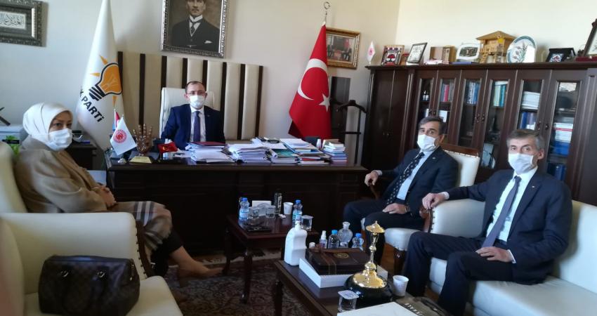 Sözleşmelilere Kadro Talebimizi AK Parti Grup Başkan Vekili Sn. Mehmet Muş'a İlettik