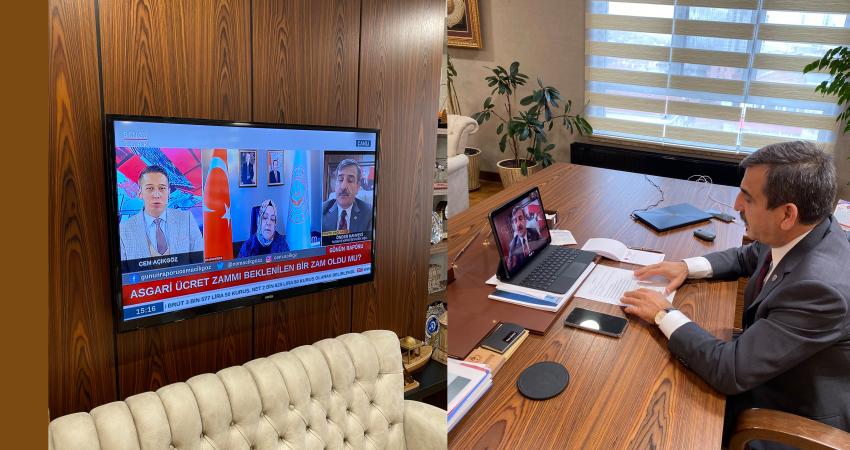 Genel Başkanımız Bengütürk TV'de Konuştu: Memur Maaşları Güncellenmeli