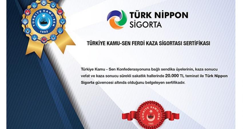 Türk Nippon Sigorta İle Üyelerimize Özel Anlaşma