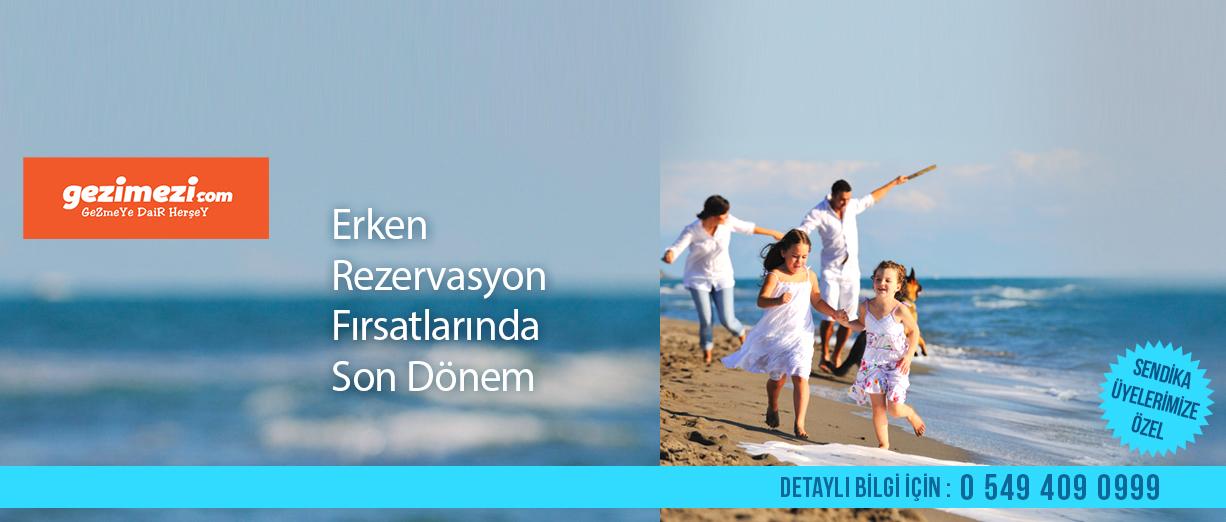 Gezimezi.com'dan Üyelerimize Özel Tatil Kampanyası