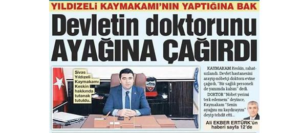 Genel Başkan Kahveci: Kaymakam Hakkında Soruşturma Açılmalı