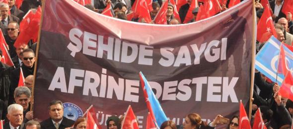 Türkiye Kamu-Sen Mehmetçik İçin Meydanları Doldurdu