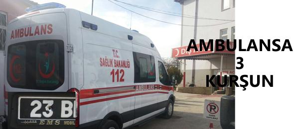 Sağlıkta Şiddet Durulmuyor; Elazığ'da Ambulans Kurşunlandı