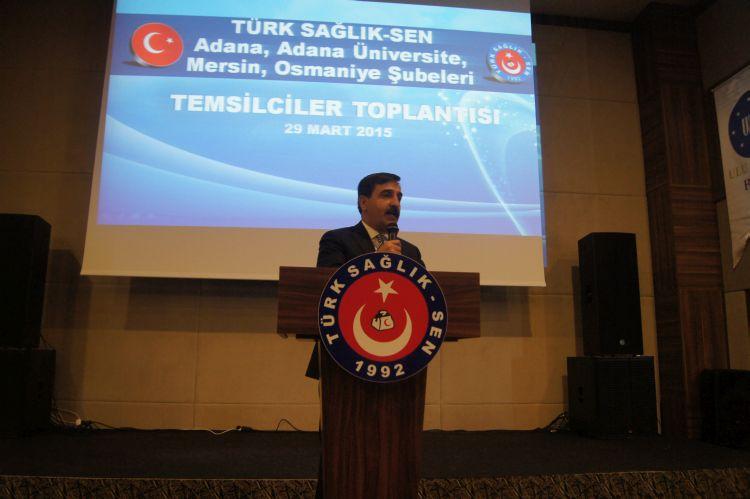 Mersin'de düzenlenen Mersin, Adana, Adana Üniversite ve Osmaniye şubelerimizin birlikte gerçekleştirdikleri işyeri temsilcileri toplantısına Genel Başkanımız Önder Kahveci ve Genel Başkan Yardımcılarımız katıldı.