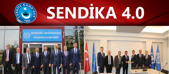 Türkiye Kamu-Sen Genel Başkanı Önder Kahveci ve beraberindeki heyet çalışma hayatındaki son gelişmeleri değerlendirmek ve yakın gelecekte çalışanlarımızın karşı karşıya kalması muhtemel sorunlara şimdiden çözüm üretmek amacıyla hazırladığı SENDİKA 4.0 Projesi çerçevesinde ILO Türkiye Direktörü Numan Özcan'ı ziyaret etti.
