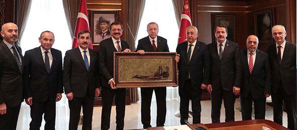 Türkiye-AB Karma İstişare Komitesi (KİK) Türkiye Kanadını oluşturan sivil toplum kuruluşlarının temsilcileri Cumhurbaşkanı tarafından kabul edildi.