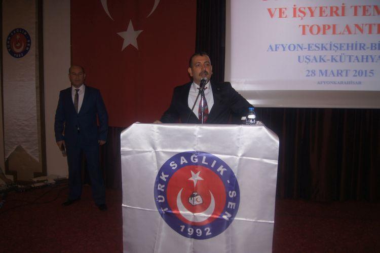 Afyon'da düzenlenen ve Afyon, Eskişehir, Kütahya ve Uşak şubelerimizin birlikte gerçekleştirdikleri işyeri temsilcileri toplantısına Genel Başkanımız Önder Kahveci ve Genel Başkan Yardımcılarımız katıldı.