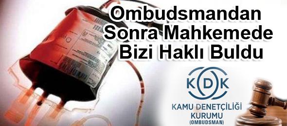 Türk Sağlık-Sen'in açtığı dava sonucunda mahkeme, Kan Transfüzyon merkezinde riskli birimlere kısmi süreli hizmet veren çalışanların çalıştığı sürelerle ilgili ek ödemelerde riskli birim katsayısından yararlanmasına hükmetti.