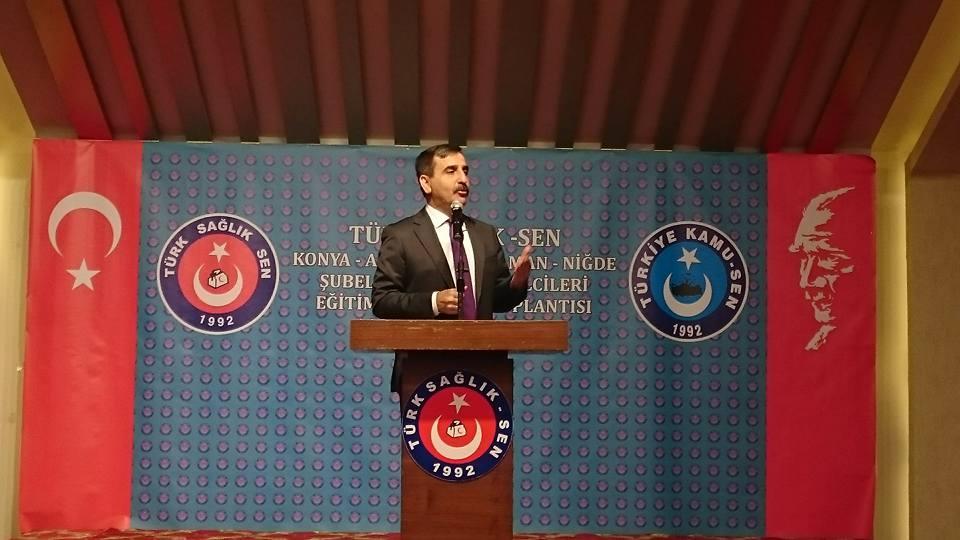 Genel Başkanımız Önder Kahveci, Genel Başkan Yardımcılarımız Hasan Şirin ve Mehmet Ali Çakal  Konya, Niğde, Karaman ve Aksaray şubelerimizin Konya'da gerçekleştirdiği işyeri temsilcileri toplantısına katıldılar.