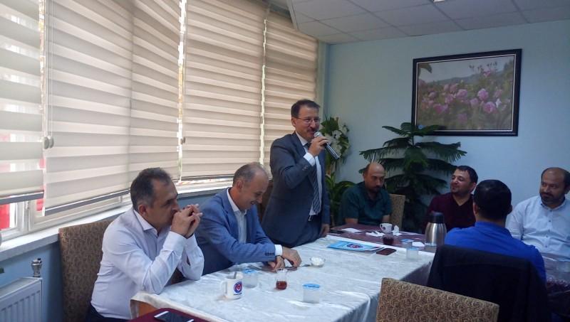 Isparta Şubemizin gerçekleştirdiği işyeri temsilcileri toplantısına Genel Başkan Yardımcımız Mustafa Yiğit katıldı.