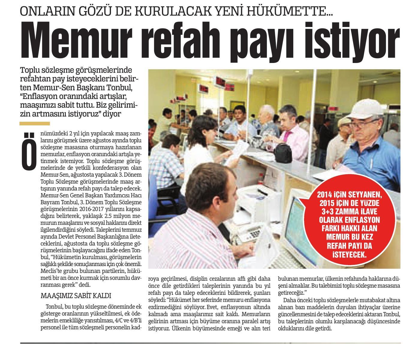 Malum Sen'e Göre Memur Maaşı Enflasyonun Altında Kalmamış
