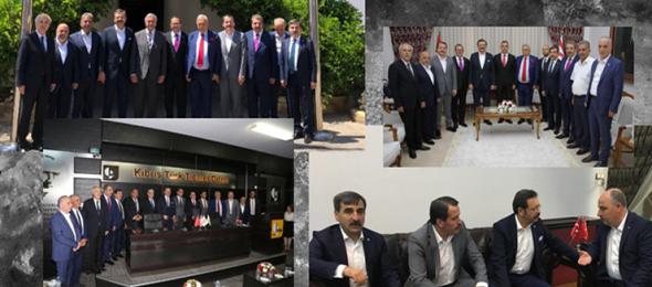 Aralarında konfederasyonumuz Türkiye Kamu-Sen'in de bulunduğu Türkiye – AB Karma İstişare Komitesi TOBB, TESK, TİSK,TÜRK-İŞ, HAK-İŞ, MEMUR-SEN'den oluşan sivil toplum kuruluşları Kuzey Kıbrıs Türk Ticaret Odası'nın daveti üzerine başkent Lefkoşa'ya gitti. Genel Başkanımız Önder Kahveci'de ziyarette hazır bulundu.