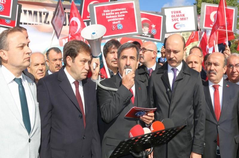 Türkiye Kamu-Sen olarak, başkent Ankara ve eş zamanlı olarak tüm illerimizde Andımız'ın yeniden okullarda okutulması için basın açıklaması yaparak hep bir ağızdan Öğrenci Andı'nı okuduk.