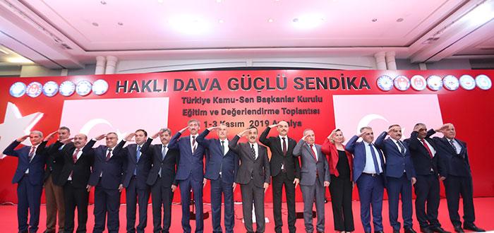 """Türkiye Kamu-Sen Başkanlar Kurulu, """"Haklı Dava, Güçlü Sendika"""" temasıyla Eğitim ve Değerlendirme toplantısı Antalya'da başladı."""