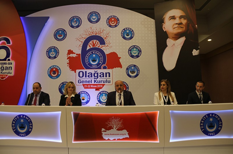 Türkiye Kamu-Sen Konfederasyonu 6. Olağan Genel Kurulu Green Park otelde gerçekleştiriliyor.