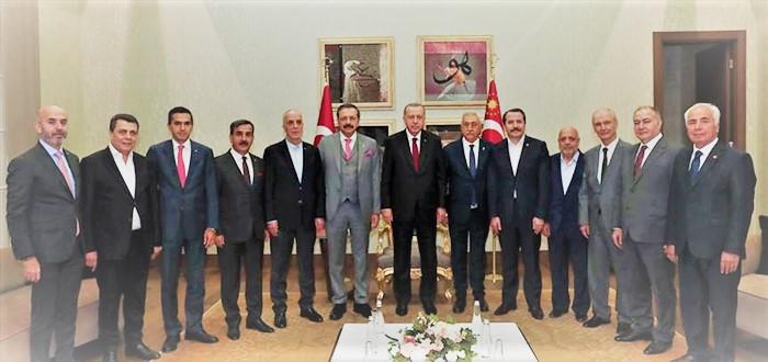 Cumhurbaşkanı Recep Tayyip Erdoğan Barış Pınarı Harekatını destekleyen, aralarında Genel Başkanımız Önder Kahveci'nin de bulunduğu Türkiye-AB Karma İstişare Komitesi üyelerini kabul etti.