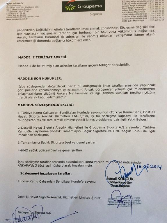 Türkiye'de ve uluslararası platformda sigorta sektörünün önde gelen firmalarından olan Groupama Sigorta ile Türkiye Kamu-Sen işbirliğiyle sunulan 'Tamamlayıcı Sağlık Sigortası' ve '' HMO Sağlık Sigortası'' ile sizlere ayrıcalıklar ve avantajlar sunuyoruz.