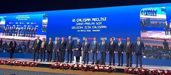 """Aile Çalışma ve Sosyal Hizmetler Bakanlığı'nın düzenlediği """"Daha Parlak Bir gelecek İçin Çalışmak"""" konulu 12. Çalışma Meclisi Ankara'da yapıldı. Toplantıya Genel Başkanımız Önder Kahveci de katıldı."""