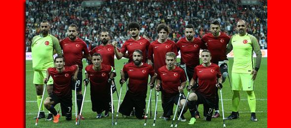 Avrupa Şampiyonu Ampute Milli futbol Takımımızı Kutluyoruz.