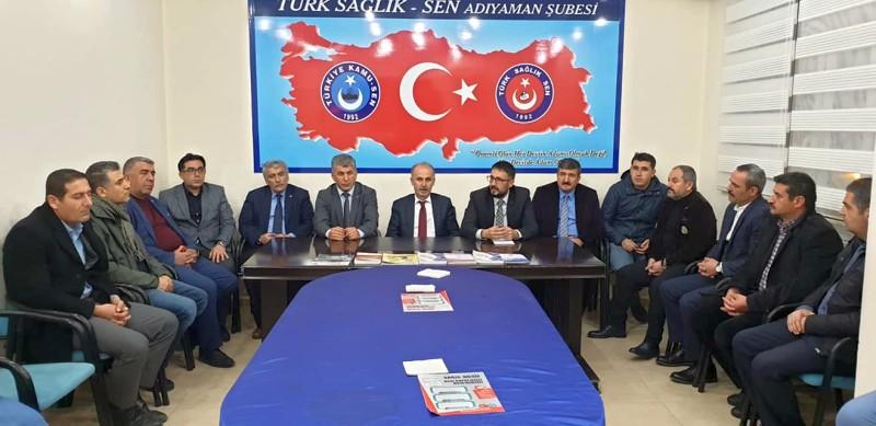 Genel Başkan Yardımcılarımız Hamza Olgun ve Mustafa Yiğit sendikal çalışmalar kapsamında Adıyaman İlimizi ziyaret ettiler.