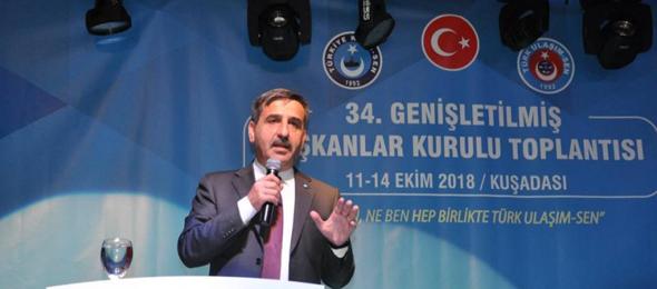 Türkiye Kamu-Sen Genel Başkanı Önder Kahveci,  Türk Ulaşım-Sen tarafından düzenlenen 36. Genişletilmiş Başkanlar Kurulu toplantısının açılış törenine katıldı.