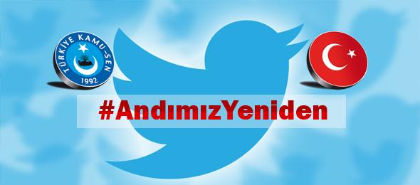Konfederasyonumuzun sosyal medya platformu Twitter üzerinden yaptığı #AndımızYeniden başlıklı hashtag çalışması Türkiye genelinde Trend Topic listesinde birinci olarak dün geceye damgasını vurdu.