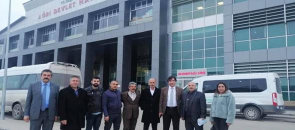Genel Başkan Yardımcılarımız İsmail Türk ve Mustafa Yiğit ile sendikal çalışmalar kapsamında Ağrı'yı ziyaret ettiler.
