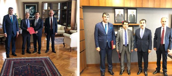 Genel Başkanımız Önder Kahveci ve Genel Başkan Yardımcılarımız Mustafa Köse ve Mustafa Yiğit ile birlikte Ak Parti TBMM Grup Başkanı Sayın Naci Bostancı'yı TBMM Plan Bütçe Komisyonu Başkan Vekili MHP İstanbul Milletvekili İsmail Faruk Aksu'yu ziyaret ettiler.
