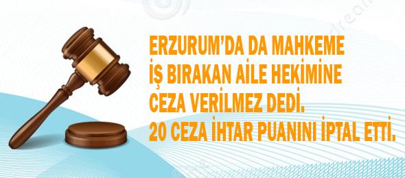 Erzurum'da 20 Ceza İhtar Puanına İptal