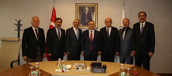 Maliye Bakanı Naci Ağbal'ı Ziyaret Ettik