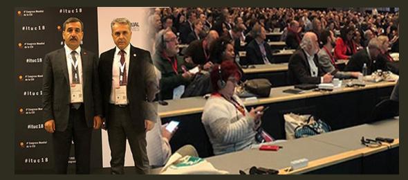 Uluslararası İşçi Sendikaları Konfederasyonu (ITUC) 4. Olağan Genel Kurulu Danimarka Kopenhag'da yapıldı. 2-7 Aralık 2018 tarihleri arasında gerçekleşen genel kurula dünya genelinden ITUC üyesi sendikalar delegasyon düzeyinde katılım sağladı.
