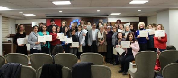 Kadın Komisyonları Temel Eğitim Programı Sertifika Töreni Yapıldı