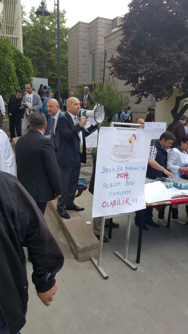 Türk Sağlık-Sen Üniversiteler Şube Başkanı Alparslan Cenk Kocabaş'ın yaptığı basın açıklamasının metnidir