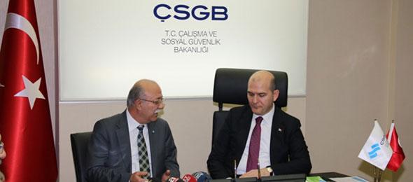 Çalışma ve Sosyal Güvenlik Bakanı Süleyman Soylu'yu Ziyaret Ettik