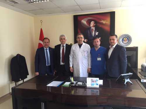 Akçaabat H.B.Devlet Hastanesi Başhekimi Olarak Atanan Op.Dr.Hasan Hüseyin Arslantürk'e Hayırlı Olsun Ziyareti Yaptık.