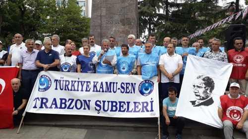 Türkiye Kamu Sen Trabzon Şubeleri Olarak Hükümetin Memurlara Verdiği Zam Teklifini Meydan Atatürk Alanında Yaptığımız Basın Açıklamasıyla Protesto Ettik.