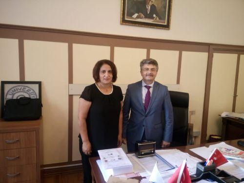 Ege Rektör Yardımcısı Görevine Atanan Prof. Dr. Mehmet Ersan'ı Ziyaretimiz