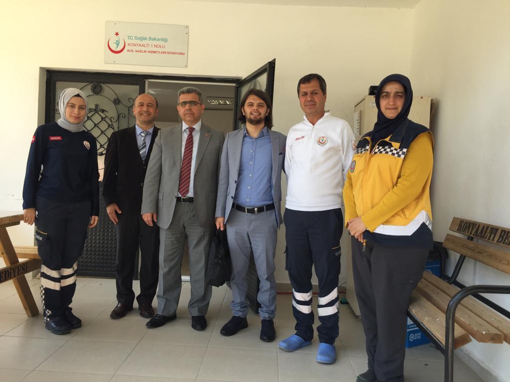 Şube Başkanımız Dr. Ali İhsan YILMAZ Başkan Yardımcılarımız Muharrem EKİN ,Dr. Ömer Şinasi ÜSTÜN ve 112 temsilciliğine atanan İşyeri temsilcimiz Serkan GÜLER ile birlikte 112 ASHİ ziyaret edilerek sağlık çalışanlarının sorunları istişare edilmiştir.