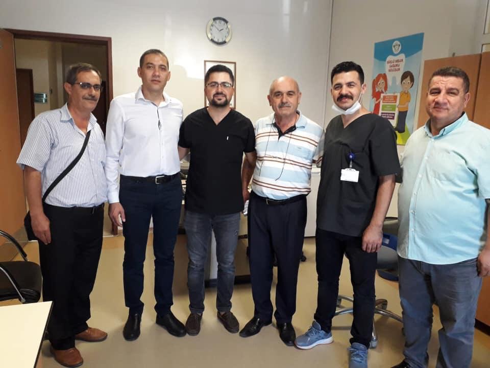 Karaali ilçesinde sağlık çalışanlarıyla buluştuk