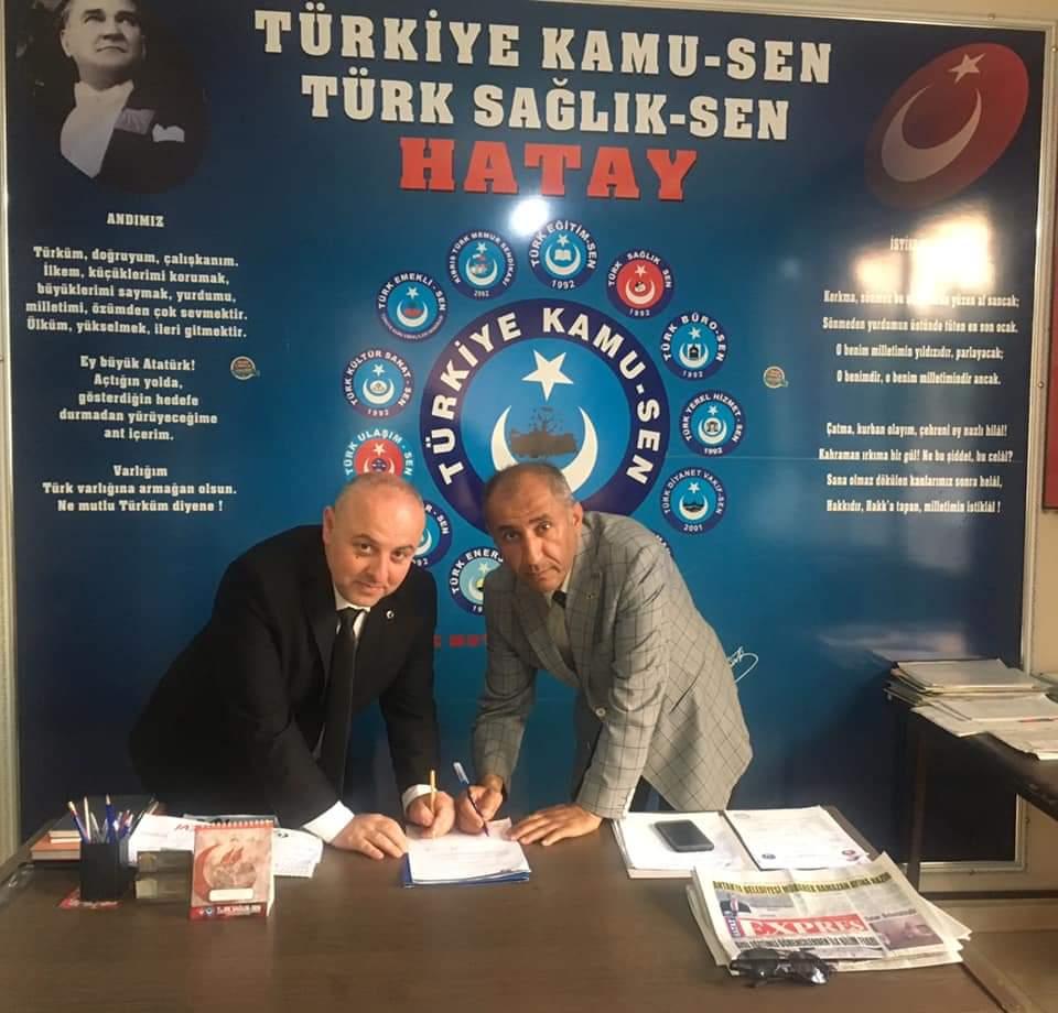 Türkiye Kamu-Sen ve Türk Sağlık-Sen Hatay Şube Başkanı Sayın Hayrettin Şahin Bey'in önderliğinde Denge Koleji ile Tüm Türkiye Kamu Sen üyeleri arasında yüzde 15 indirim anlaşması imzalanmıştır.