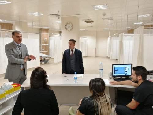 Numune Hastanesindeki personellerimizi ziyaret ederek sorunları ve çözümleri hakkında istişarede bulunduk.