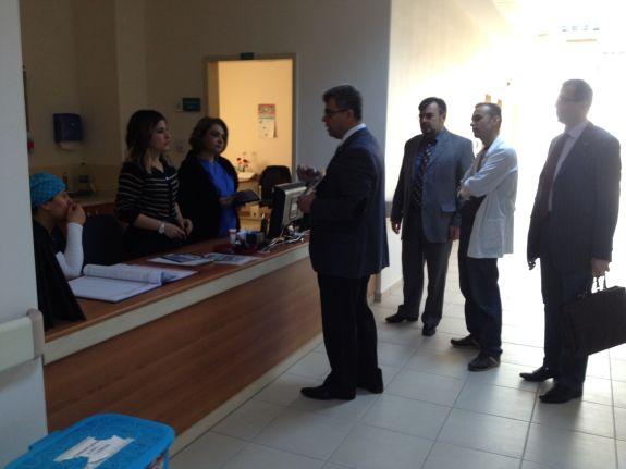 Korkuteli ilçemizi ziyaret ederek sağlık çalışanlarıyla buluştuk